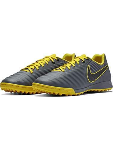 Nike Legend 7 Club FG, Zapatillas de Futsal Hombre, Dark Grey Black OPTI Yellow, 42 EU