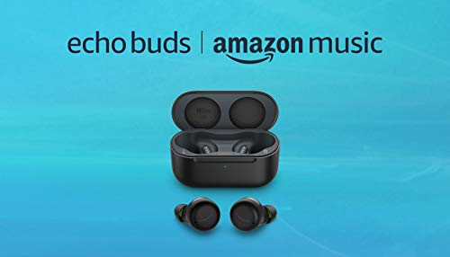 All-new Echo Buds (2nd Gen) and 6 months Amazon Music Unlimited FREE w/ auto-renewal | Black