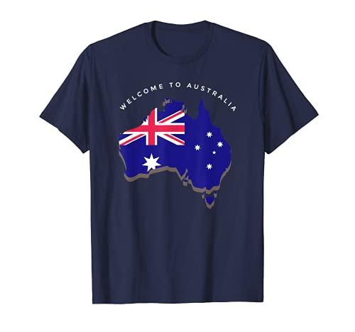 Australia Flag Flagge Fahne Australien Karte T-Shirt T-Shirt
