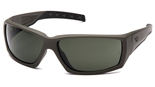 Venture Gear Overwatch Shooting Safety Sunglasses, Black, Forest Gray Anti-Fog Lens