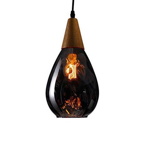 Pendelleuchte Glas E27 Esstisch Hängeleuchte Deckenleuchte Lampenschirm Hängelampe Moderne rustikal leuchtmittel für Wohnzimmer Schlafzimmer Loft Restaurant Cafe Esszimmer Küche,Schwarz