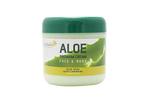 Tabaibaloe Premium Cream Aloe Vera, Crema de Aloe Vera para cara y cuerpo, 300 ml
