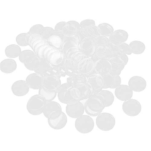 100pcs / Set 32 ??millimetri Monete Clear Case Capsule Porta Monete Contenitore Di Immagazzinaggio Di Plastica Dell'organizzatore Di Immagazzinaggio Scatola Di Accessori Per La Collezione Di Monete