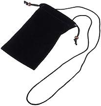 DFV mobile - Étui Housse Tissu Flanelle Doux avec Boucle et Corde de Collier pour Nokia 6 Arte Black (2017) - Noir