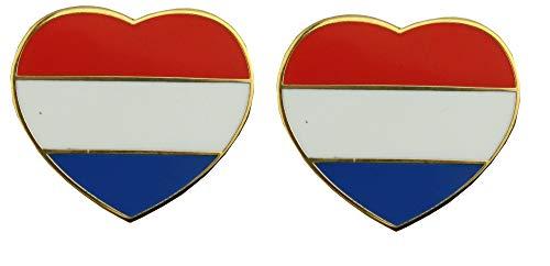 Yantec Pins 2-pack Nederland hart vlag pin vlag