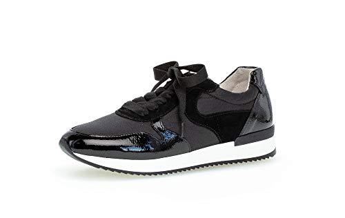 Gabor Zapatillas deportivas para mujer, plantilla suelta, mejor ajuste., color Negro, talla 40.5 EU