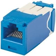 Panduit Mini-Com TX6 10 Gig Cat6a Jack Module, Blue, 24-Pack CJ6X88TGBU-24