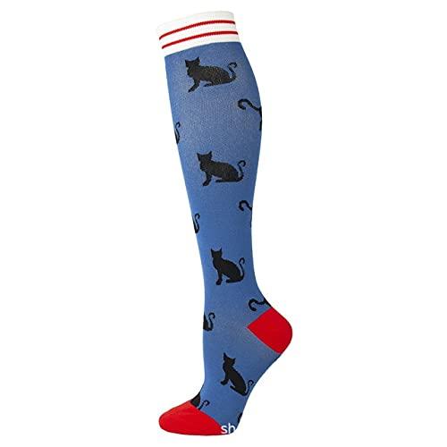 3 pezzi Running Uomo Donna Nuovi calzini a compressione Halloween Cat Dog Stampe animali Unisex Outdoor Running Ciclismo Calze a pressione lunghe-a12-S-M