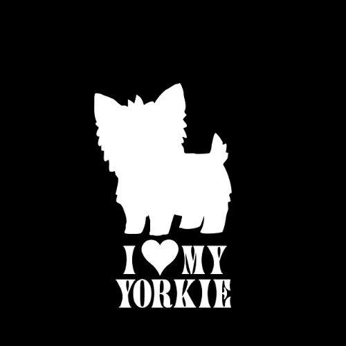 I Love My Yorkie #2 Dog Car Window Decal Sticker 5'