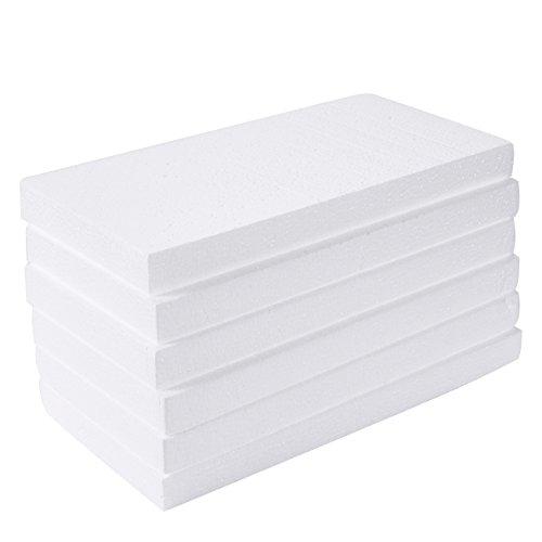Juvale Espuma rectangular, suministros para artes y manualidades (12 x 6 x...