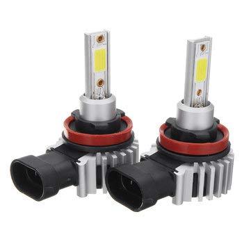C-FUNN D9 60W 8000Llm LED Fari per Auto Bulbi Nebbia Lampada H1 H3 H7 H11 9005 9006 6000K Sostituire Xenon Hid Halogen - H8 H9 H11