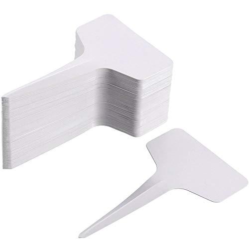 SHAOXI 200 Pack 6 x 10 cm Usine de Type T Balises de Jardin en Plastique Étiquettes Étiquettes marqueur étanche, Blanc Essayez de décorer par Votre (Color : White)