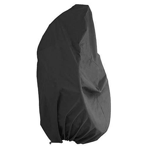LDIW Funda de Silla Mecedora, Funda Universal para Silla Colgante de Tela Poliéster 190T/Oxford 210D Impermeable A Prueba de Viento Anti-UV,Negro,190T 190x115cm