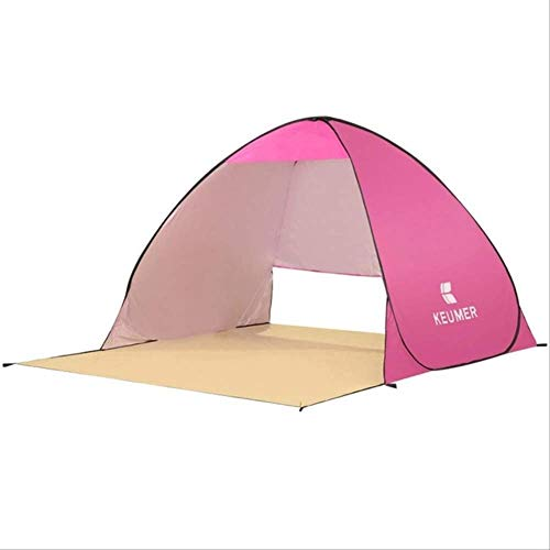 DYGZS tent Automatic Camping Ultralight Tent Beach Tent 2 Persons Tent Instant Pop Up Open Anti Uv Awning Tents Outdoor Sunshelt Pink