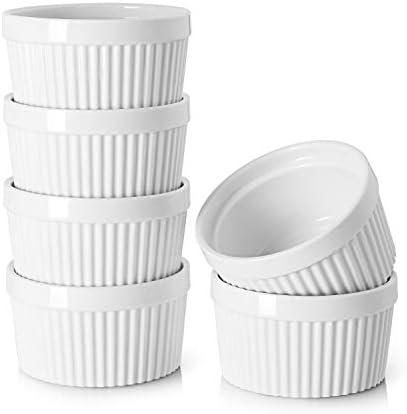 DOWAN 8 oz Ramekins Ramekins for Creme Brulee Porcelain Ramekins Oven Safe Classic Style Ramekins product image
