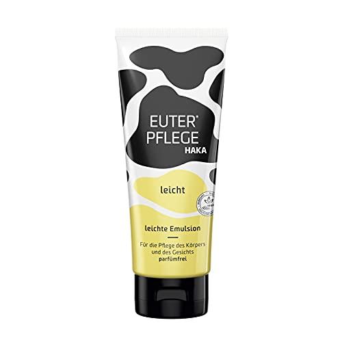 HAKA EUERPFLEGE leicht I 200 ml Feuchtigkeitscreme für raue, strapazierte Haut I Sanfte Pflegecreme für trockene Hände und beanspruchte Haut I Ohne Parfum