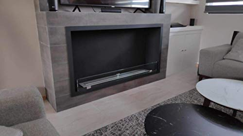 chimenea bioetanol pared de la marca Vass Design Eco-Fireplaces