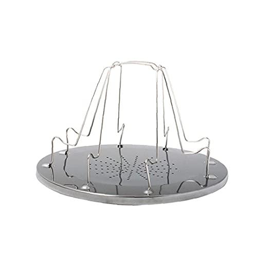 Tostadora portátil Plataforma de Camp tostadora del Pan Plegable de 4 Piezas de Pan Tostado Pan Placa Comida campestre Que acampa Parrilla Bandeja Plegable al Aire Libre, Equipo al Aire Libre