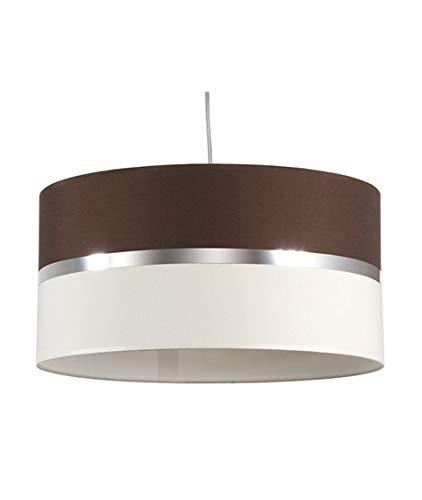 Lámpara de techo wengue y loneta