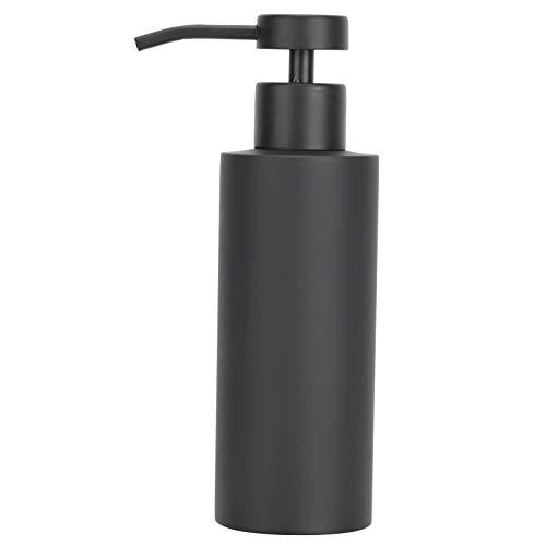 Dispensador de jabón de Acero Inoxidable, loción Manual Tipo Empuje, Gel de Ducha, acondicionador, embotellado, Negro, Fregadero de Cocina, Lavabo, baño