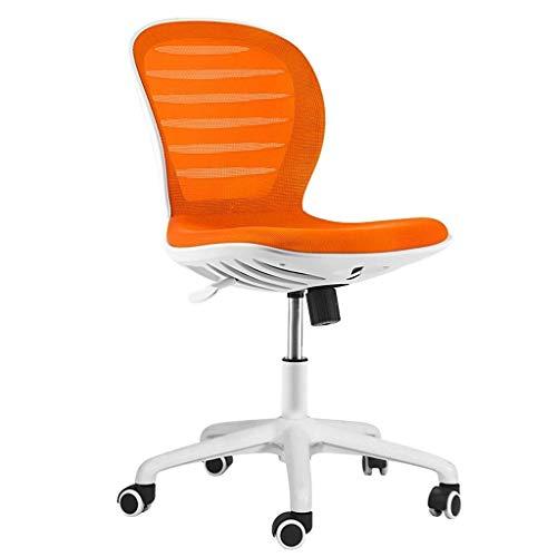 WJMLS Presidente del Juego del Cuero Silla de Oficina reposacabezas y Soporte Lumbar Estilo Cómodo Malla Silla Confort Mejor for Largos períodos de Trabajo (Color : Orange)