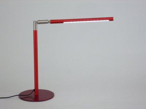 LED-Tisch-Leuchte-Lampe LINCOLN rot mit Touch Dimmer Nachttisch-Schreibtisch-Fensterbank-Kommode-Lese-Leuchte-Lampe