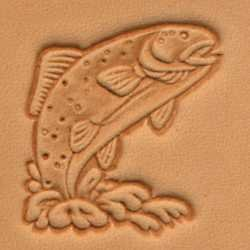 Tandy Leather 3D Trout Stamp 88345-00