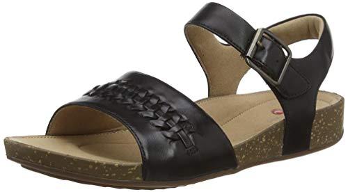 Clarks Damen Slingback Sandalen, Schwarz (Black Leather Black Leather), 35.5 EU