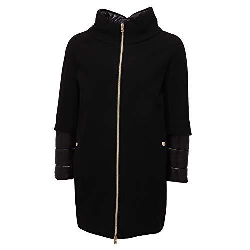 Herno 9941Z Cappotto Bimba Girl Piumino Wool Black Jacket Coat [10 Years]