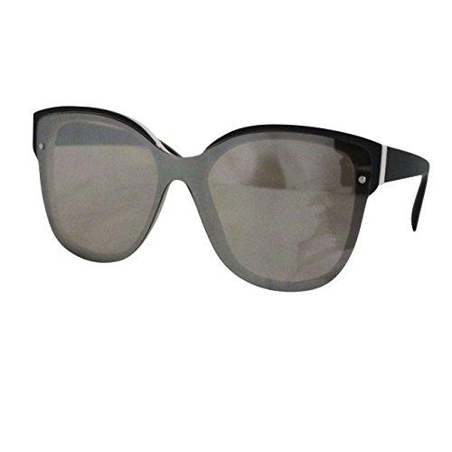 FERETI Occhiali Da Sole Donna Specchio Beige Nero Farfalla Gato Ovali Aspecchio Wayfarer Moda