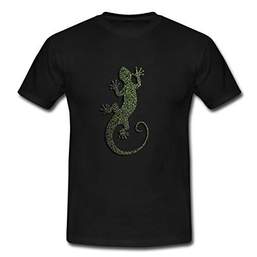 Gecko Salamander Eidechse Männer T-Shirt, S, Schwarz