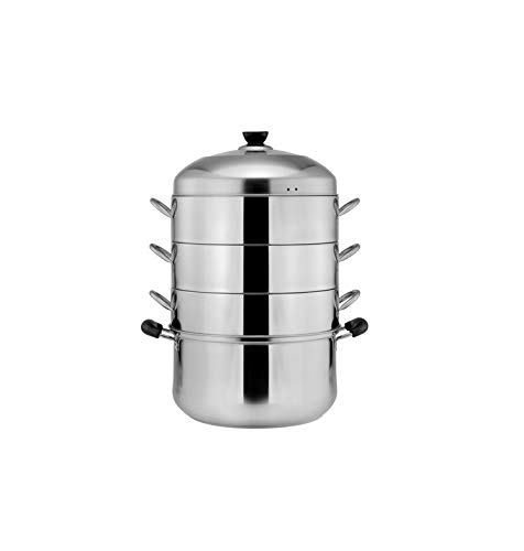 Mihaojianbing Household Stainless Steel Steamer, Original Pot Steamed Rice Pot, Durable, Convenient, Safe And Hygienic, Stainless Steel Four-layer Steamer, Soup Pot. Best Choice Product