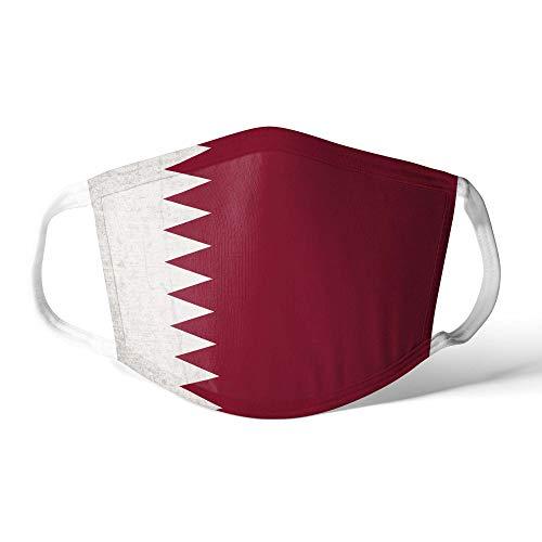M&schutz Maske Stoffmaske Klein Asien Flagge Katar/Qatari Wiederverwendbar Waschbar Weiches Baumwollgefühl Polyester Fabrik