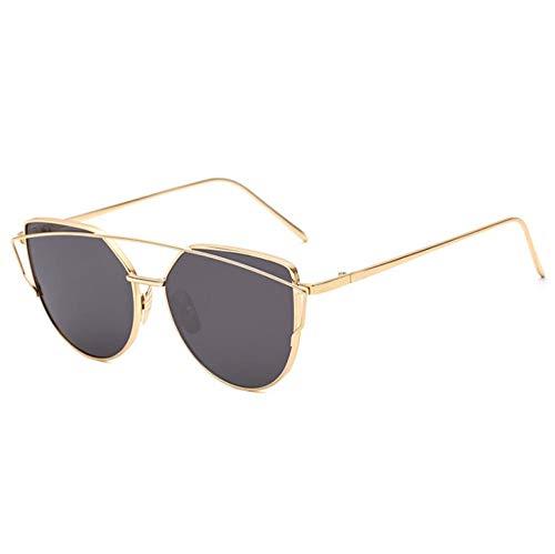 WANM Gafas de sol Gafas de metal retro hombre y mujer gafas de sol-B