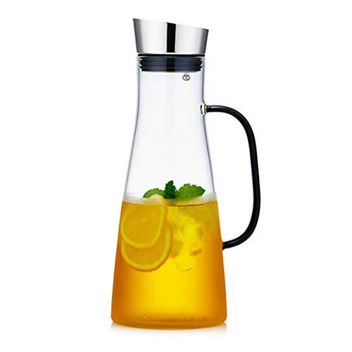 Botella De Agua Fría Juego De Tetera De Vidrio Resistente A Altas Temperaturas Para El Hogar Botella De Agua Fría De Lujo Ligera Botella De Agua Fría Resistente Al Calor De Gran Capacidad Gran Calibre