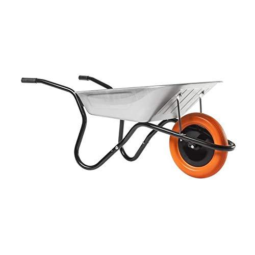 HAEMMERLIN Schubkarre BiBox Smart (Gartenkarre mit pannensicherem Rad, 90 Liter Füllmenge, Mulde verzinkt)