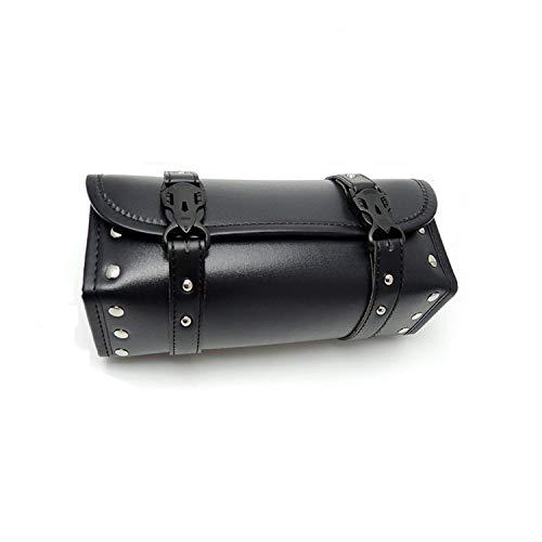 Motorcycle Fork Bag Handlebar Bag PU Leather Storage Tool Bags Organizer With 2 Straps