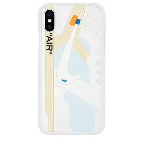 Schutzhülle für iPhone X, Schuh-Design, Chicago/Weiß, 3D-Druck, strukturiert, stoßdämpfend, weiß