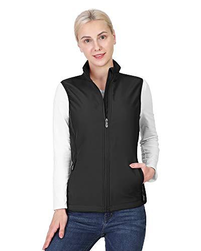 Outdoor Ventures Women's Lightweight Softshell Vest Windproof Fleece Lined Zip Up Sleeveless Jacket for Running Hiking Golf