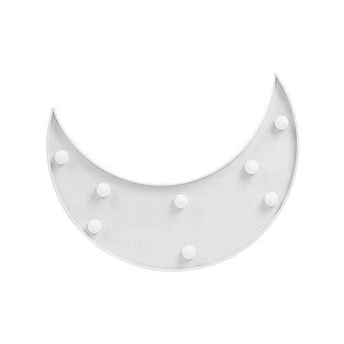 AOK DOOR Veilleuse LED Enfant Veilleuse De Nuit Bebe Accueil Décoration Lumières pour Mur Veilleuses pour Enfants Lampes pour La Maison Décoration Moon White