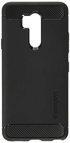 Spigen [Rugged Armor] LG G7 ThinQ Hülle (A27CS23033) Karbon Erscheinungsbild Elastisch Stylisch Soft Flex TPU Silikon Handyhülle Schutzhülle für LG G7 Plus ThinQ Case [Schwarz]
