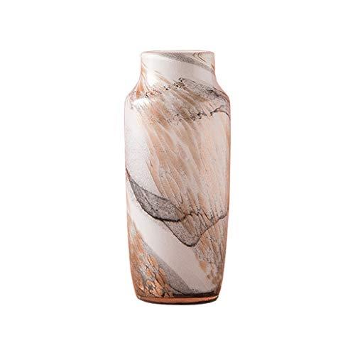 Jarrón Exquisito jarrón de Vidrio en casa Sala de Estar Mesa de Comedor Mesa de café Jarrón Creativo decoración o como Regalo Jarrones y Adornos (Size : B)