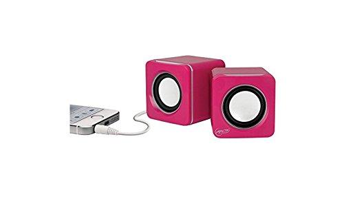 ARCTIC S111 M - Mobiles Mini-Soundsystem, Mini Speaker mit überzeugender Klangqualität für Smartphone, Tablet oder Laptop, bis zu 12h Akkulaufzeit, kraftvolle Bässe und kompaktes Design - Pink