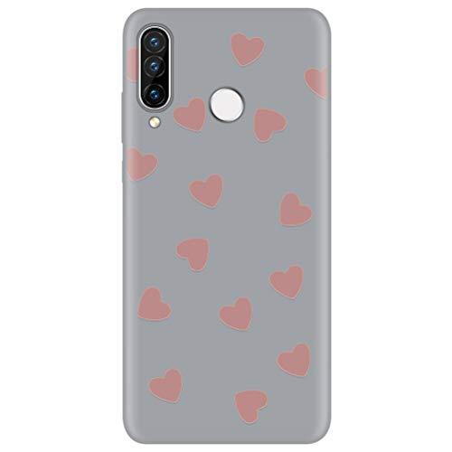 Eouine Capa para celular Huawei P30 Pro, capa de telefone 3D silicone cinza marrom com estampa de desenho animado ultra fina à prova de choque capa de borracha macia para smartphone Huawei P30 Pro, 03