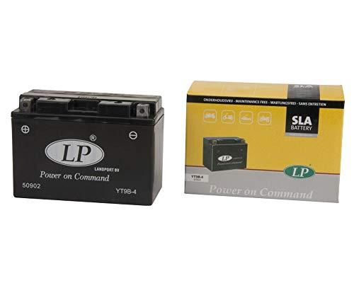LANDPORT YT9B-4 Batterie 12V 8aH für Derbi, MBK, Yamaha [inkl. 7.50 Batteriepfand]