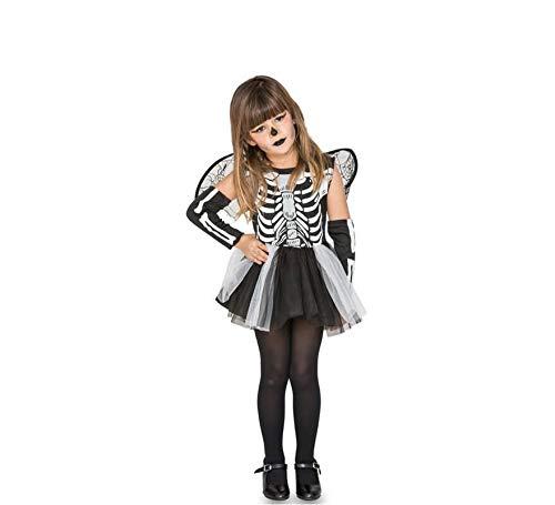 Fyasa 706460-T00 - Disfraz de esqueleto para niña de 2 a 3 años, multicolor