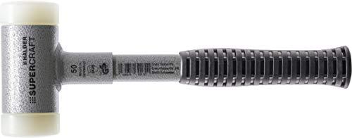 SUPERCRAFT-Schonhämmer, mit bruchsicherem Stahlrohrstiel und ergonomisch geformtem, rutschsicherem Griff | Ø=50 mm | 3377.050