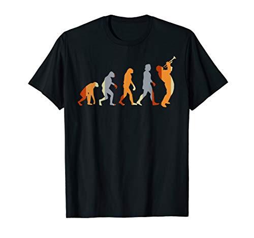 Geschenk für Trompeter Evolution Trompete T-Shirt