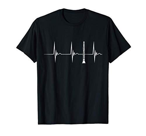Clarinete Latido Del Corazón EKG Pulso Clarinetista Camiseta