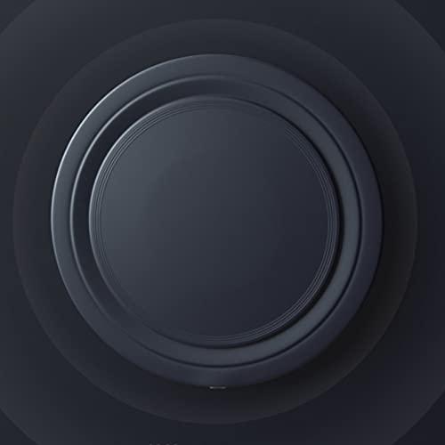 ZPEE Cargador Inalámbrico, Cargador Inalámbrico Redondo de Carga Inalámbrica, Adecuado para Carga de Teléfonos Móviles, y Fácil de Realizar,Black